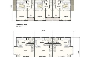 Building B - 2 Storey Unit Plans