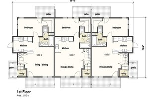 Building B - First Floor Unit Plans